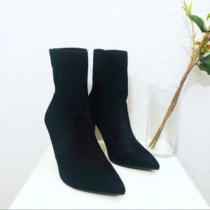 M&S Collection Black Sock Boots size 7.5